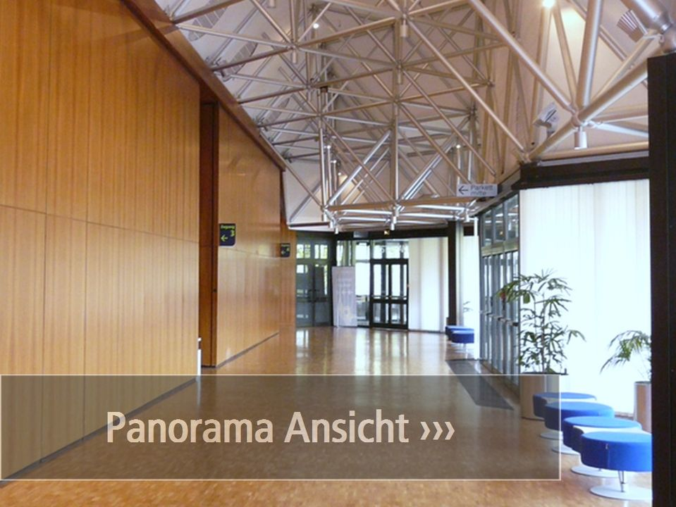 Panoramaansicht Saalfoyer